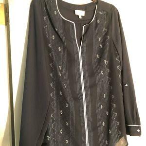Navy ModCloth peasant blouse